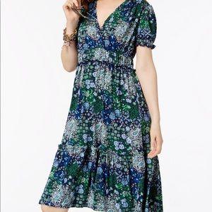 Michael Kors Print Ruffled Tiered Dress Size P/S